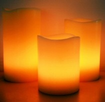 Moon Candles 3 Flameless LED Wax Candles with Remote Control
