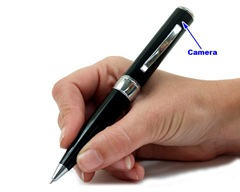 Hi-Res Pen Video Spy Camera with 4GB Memory