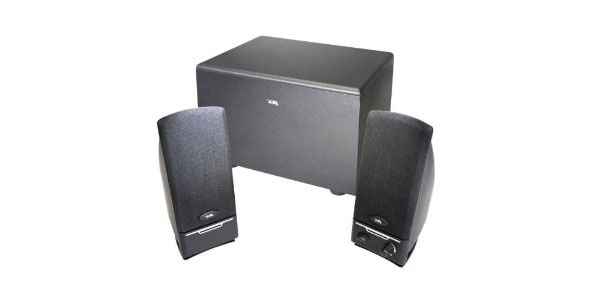 Cyber Acoustics CA-3001RB 3 Piece Subwoofer and Satellite Speaker System