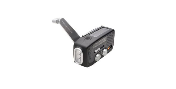 Eton FR160B Microlink Self-Powered AM/FM/NOAA Weather Radio with Flashlight, Solar Power and Cell Phone Charger