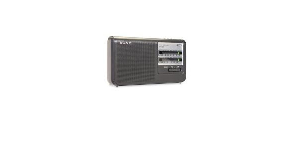 Sony ICF38 Portable AM/FM Radio