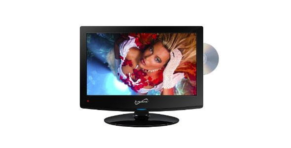 15.6 Inch Supersonic SC-1512 12 Volt AC/DC Widescreen LED 1080p HDTV ATSC Digital Tuner w/ DVD Player