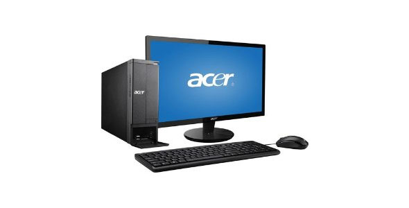 Acer Black AX1430G-UW30P Desktop PC Bundle